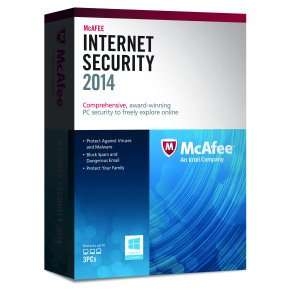 McAfee Internet Security 2014- 3 USER £9.99 + free delivery ebuyer.com