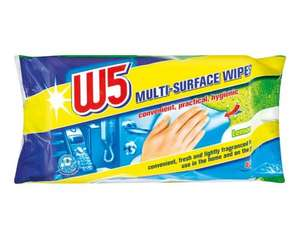 W5 Multi-Surface Wipes2 for £2 (£1.49 each) @ Lidl