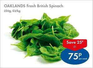 200g Spinach 75p @ Lidl