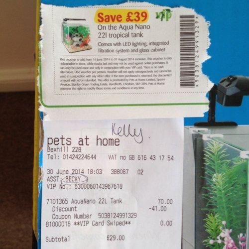 Aqua Nano 22 Litre Fish Tank -  Save £49 - Pets At Home £29
