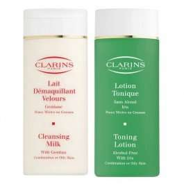TJ Hughes Clarins Cleansing Duo £19.99 free delivery 3% Quidco