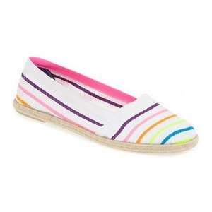BELLISSIMO Canvas Slip On with Striped Upper  @ Pavers £4.99 Size 6 Free store collection