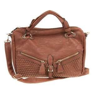PAVERS Large Bag with Diagonal Zips & Weave Detail  £14.99 @ Pavers WAS 29.99