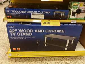 "Wood and Chrome TV stand for 32"" and 42"" TVs £8.50 instore @ Tesco"