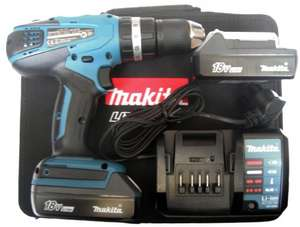 Makita 18V Lithium-ion Combi Drill with 2 Batteries  £102 online and instore B&Q / diy.com (3 years warranty !)