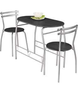 Vegas Dining Table and 2 Chairs - Black was £49.99 now £29.99 @ argos