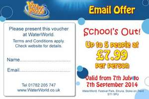 Entry to Waterworld for £7.99 pp