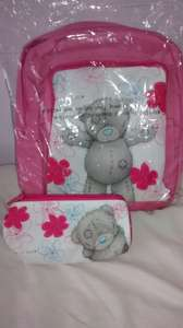 me to you (tatty teddy) school bag backpack & pencil case £4.99 argos (rrp 19.99)