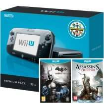 Wii U, premium black, 32GB BUNDLE w/ NintendoLand, Assassin's Creed 3 & Batman: Arkham City - £189.95 @ thegamecollection