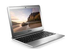 "Samsung Chromebook 16GB HDD 2GB RAM 11.6"" Chrome Os 303C12-A01 Wi-Fi Silver MANUFACTURER REFURB £139 @ Ebay Tesco Outlet"