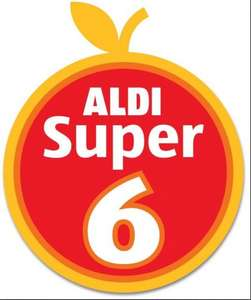 Aldi Super 6 Fruit & Vegetable Offers - 69p from 3rd July - 16th July 2014... Romaine Lettuce Twin Pack; Sugar Snaps (150g); Baby Plum Tomatoes (300g); Peaches 4/5 Pack; Galia Melon, Cherries (200g)...