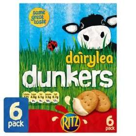 Dairylea Dunkers Ritz 6 Pack / Dairylea Dunker Jumbo Tubes 6 Pack. were £3.47 now £2.00 @ Asda Online & Instore.