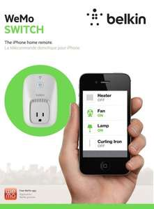 Belkin Wemo Home Automation Switch for Apple iPhone/iPad/iPod Touch and Android Devices £28.99 @ Amazon