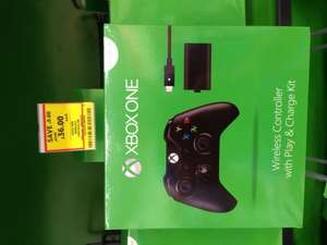 Xbox one wireless controller with play and charge Tesco £36 instore
