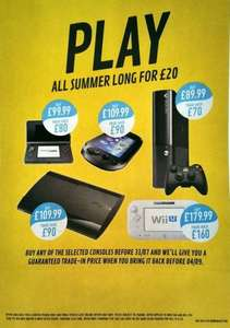 Rent a Nintendo Wii U, 3DS, PS Vita, Xbox 360 - GAME-  £20 (Via buying console and selling back)