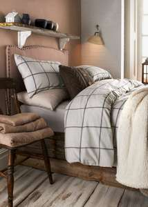 Flannelette Check Duvet Set Was £20.00 to £35.00 Save £10.00 to £17.50 at Matalan