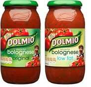 Dolmio Original/Original Light (500g) £1.02 or 57p (45p cashback from shopitize) @ Co-operative Food