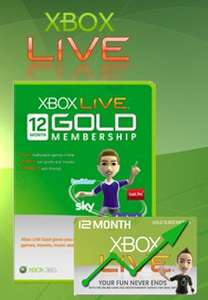 Xbox live 12 months (emailed direct/instant) £23.99 from Electronic First