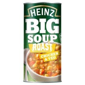 Heinz BIG soup 500g £1 - Chicken n Veg, Smokin' Chicken & Bacon, Angus Steak & Potato, Angus Steak & Onion - ASDA