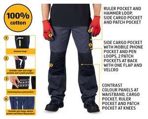 Men's Work Trousers £8.99 (from Sunday) @ Aldi