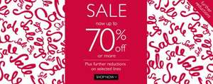 upto 70% off + additional 20% off on some items + 6% quidco + free delivery and returns @ Moss Bros
