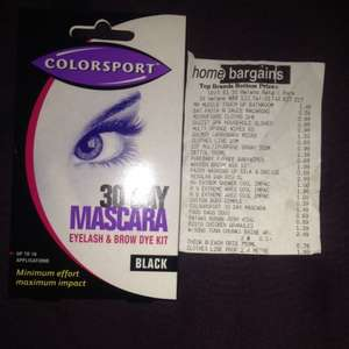 Colorsport 30 Day Mascara Eyelash & Brow Kit £1.49 @ Home Bargains.
