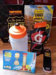 FREE cycling goody bag inc water bottle @ Halfords with O2 Priority Moments App