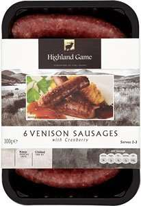 Venison Sausages (6) (300g) from Highland Game ONLY £1.99 @ Lidl