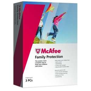 McAfee Family Protection 3 User only £2 @ Tesco Direct