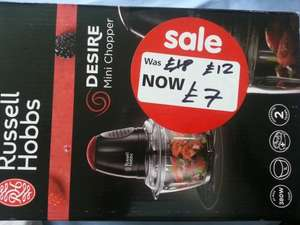 Russell Hobbs Desire Mini Chopper £7 @ ASDA