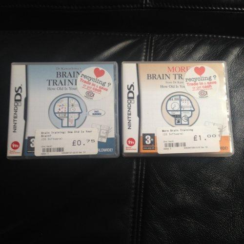 Brain training 75p and more brain training £1!