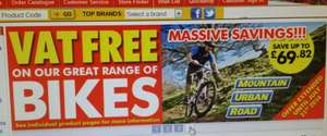 Vat free bikes at Machine Mart (Haymills)