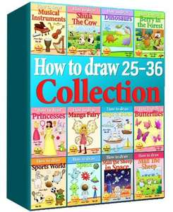 Drawing Books - How to Draw Comics Collection 25-36 (Over 330 Pages) (How to Draw Anime Collcetions) (How to Draw Collections) [Kindle Edition]