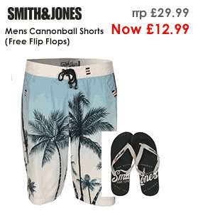 Smith And Jones Mens Cannonball Shorts and Flip Flops 12.99 @ GetTheLabel