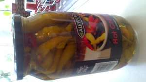 900g Aleyna jar of hot chillies in vinegar £1 @ Sainsburys