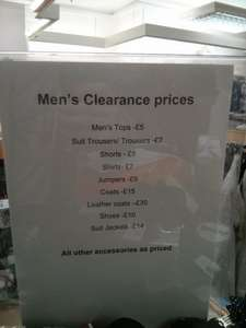 M&S Outlet Clearance prices in-store