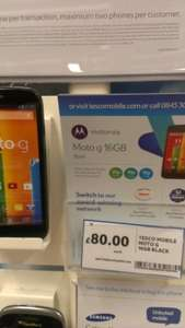 Moto g 16GB £80 in-store @ Tesco