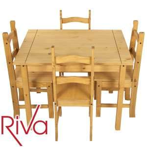 Solid Wood Dining Table & Four Chairs - £79.99 @ Home Bargains