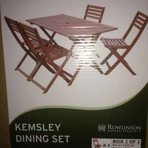 Kemsley five piece garden set £50 @ Morrisons