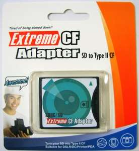 Komputerbay SD / SDHC / MMC Card to Compact Flash Type II High Speed Adapter from Komputerbay Fulfilled by Amazon £10.00 & FREE Delivery in the UK.