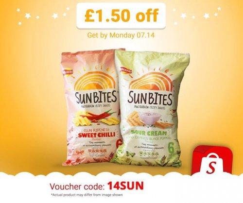Walkers sunbites 6 pack - Sun ripened sweet chili - £1 @ waittrose , use shopitize code and get 50p profit :D