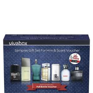 Vivabox Men's Fragrance Selection Vivabox- Plus ONE full size bottle! £29.99 @ The Perfume Shop