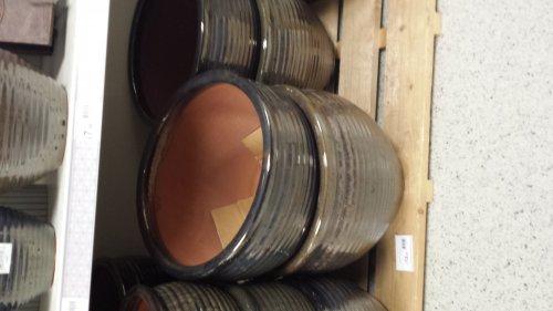 wilkinson 38cm metallic ceramic plant pot £6