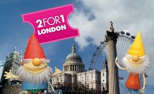 2FOR1 entry available at over 150 London Attractions via abelliogreateranglia.co.uk