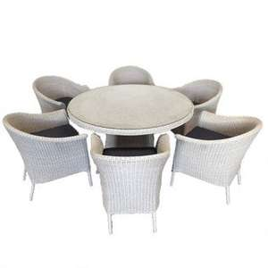 Hopton 6 seater Rattan Outdoor garden furniture set(in store only)  £650 at he Garden Centre Group,