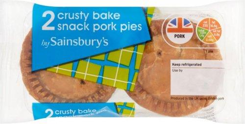 Sainsbury's Crusty Bake Snack Pork Pies (43% Pork) (2 per pack - 130g) was £1.20 now 60p @ Sainsbury's