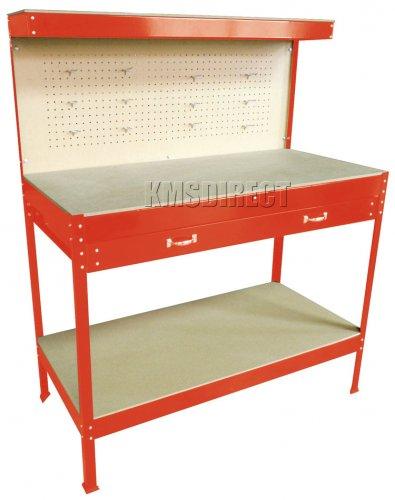 Garage Workshop Table With Pegboard Drawers EBAY /  mantradingltd £42 Delivered