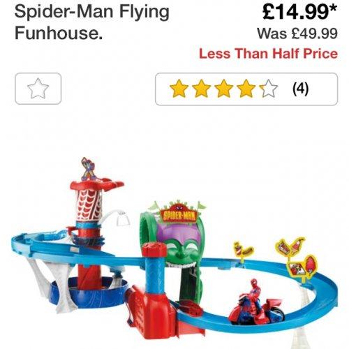 Spider-man flying fun house £14.99 @ Argos