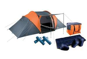 Aventura 4 man tent pack - Halfords - £64 (RRP £80) - add cooking set for £5 (RRP £20) and 3 gas canisters for £3 (RRP £2.29 each)