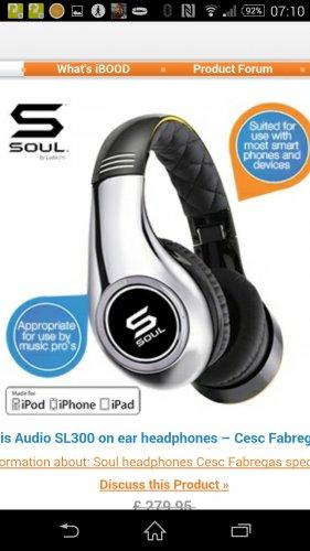 Soul by Ludacris Audio SL300 on ear headphones £64.95+ £7.95 delivery @ iBood